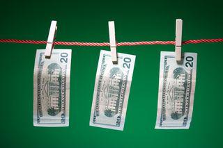 Money on clothesline