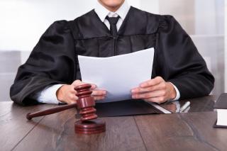 Judge holding docs
