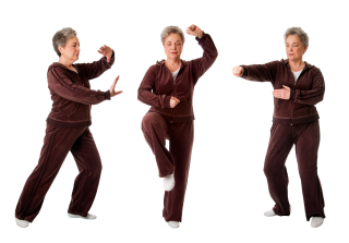 Senior womandoing Tai Chi