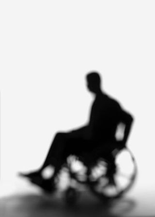 Man in wheelchair (outline)
